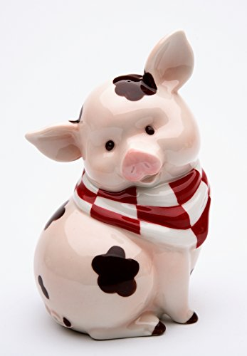 (StealStreet SS-CG-61760, 5.5 Inch Sitting Pink Pig with Brown Mud Spots Money Piggy Bank)