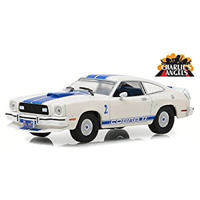 1976 Ford Mustang Cobra II White Charlie's Angels (1976-1981) TV Series 1/43 Diecast Model Car by Greenlight 86516: Toys & Games