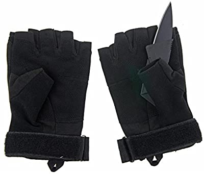 Military Hard Knuckle Full Finger Tactical Gloves by One Planet,Abrasion Resistant, Great for Hunting,Cycling,Combat,Shooting&More,Black Color, Includes A Credit Card Knife, Hurry and Buy Now!