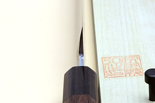 Yoshihiro Hongasumi Blue Steel Yanagi Sushi Sashimi Japanese Knife Rosewood Handle (240mm/9.5'') by Yoshihiro (Image #3)