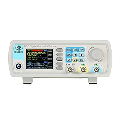 KKmoon 40MHz Function Signal Generator Dual-channel DDS Arbitrary Waveform Pulse Signal Generator 1Hz-100MHz Frequency Meter