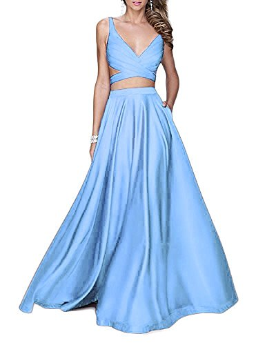 light blue dress prom - 7