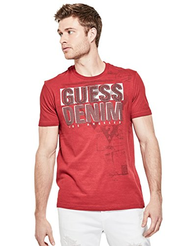 GUESS Factory Men's Everett Logo Crewneck Tee - Edge Logo T-shirt