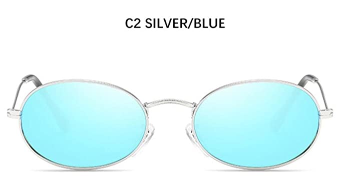 qbling technolog Lindo Sexy Oval Retro gafas de sol mujer ...