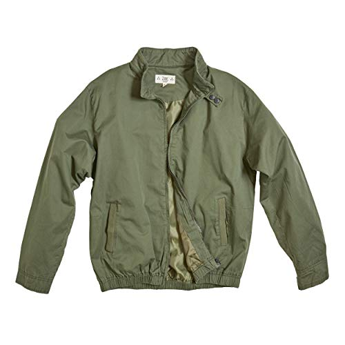 weight & Casual Iconic Racer Jacket for Spring - Fall Coat (Olive, M) ()