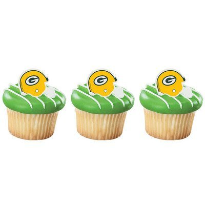 Green Bay Packers Cupcake Rings 24 Count ()