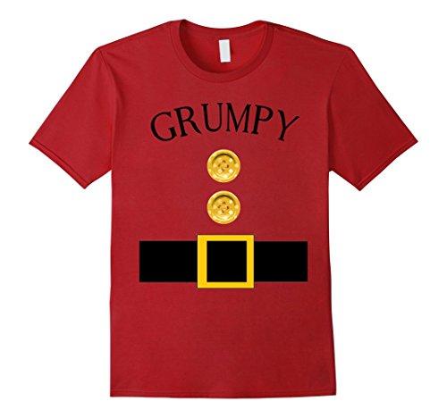 Mens Cute Grumpy Halloween Group Costume T Shirt | Team Tees XL Cranberry