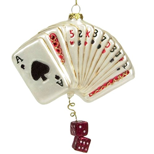 Scottish Christmas Poker Cards with Dice Ornament by Scottish Christmas