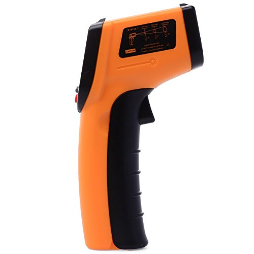 Sunjas Digital Infrarot Temperaturmessgerät mit Laser Temperaturmesser (- 50 bis + 330 °C)