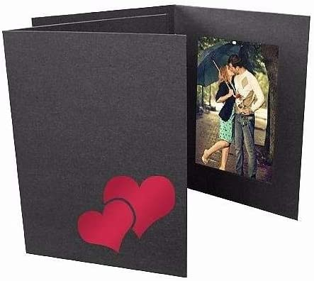 Amazon.com - Valentine's DOUBLE HEART Red Foil On Black Cardstock