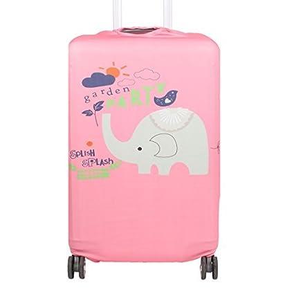 eDealMax SAFEBET autorizado Poliéster patrón de elefante equipaje de viaje anti-arañazos protector de la