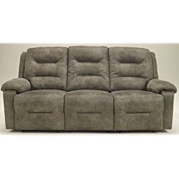 Ashley Furniture Signature Design - Rotation Recliner Sofa - Manual Reclining Couch - Smoke Gray  sc 1 st  Amazon.com & Amazon.com: Ashley Furniture Signature Design - Rotation Recliner ... islam-shia.org
