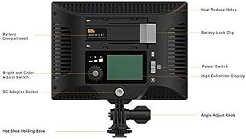 Pixel P20 LED Video Light Ultra Brillante Regulable Cámara Luz ...