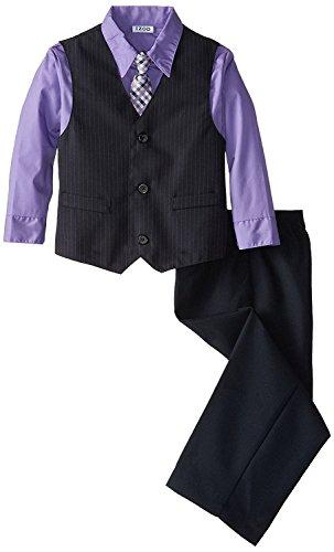 IZOD Little Boys' Plain Stripe Vest Set, Bloom, 04/Regular