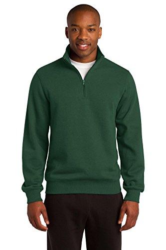 (Sport-Tek Men's Tall 1/4 Zip Sweatshirt 2XLT Forest Green)
