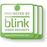 Protected by Blink Video Security Window Decals, Pack of 3