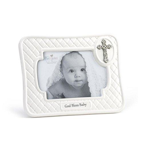 DEMDACO Baby Frame, God Bless, (God Baby Boy Frame)