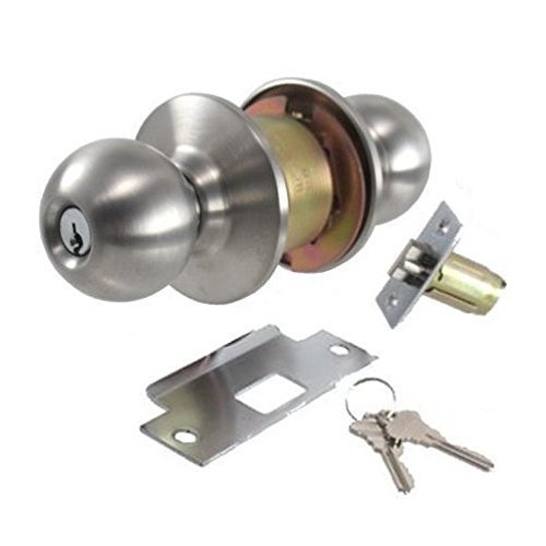 Stainless Steel Entry Lockset (2-3/4'' Backset)