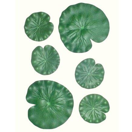 hilingo Happy Life 6 X Pond Leaves, Artificial Foliage,Artificial Plant