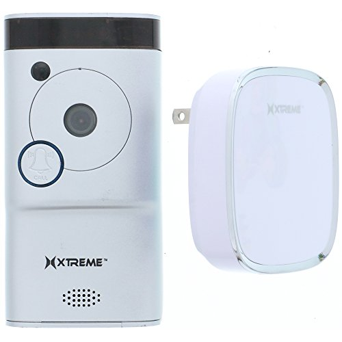 Xtreme Connected Home WiFi Smart HD Video Doorbell Camera With Free Chime-Silver -  XCS7-1004-SIL