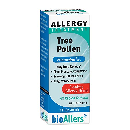 - bioAllers Tree Pollen Allergy Treatment | Homeopathic Drops for Sinus Pressure, Congestion, Sneezing, Runny Nose & Itchy, Watery Eyes | 1 Fl Oz