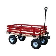 Millside Industries Wooden Express Wagon, 16-Inch X 36-Inch