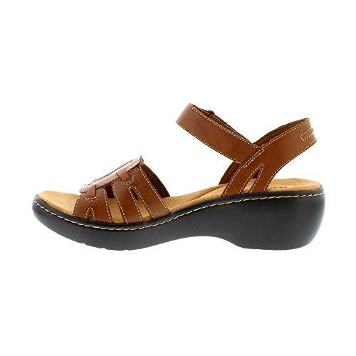 Clarks Delana Nila - Dark Tan Leather
