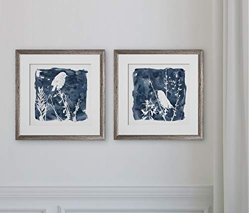 (WEXFORD HOME Indigo Bird -2 Piece Set Art Print, 16X16,)