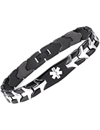 Fashion Flying fish Stainless steel Medical Alert id Bracelets with Free Engraving
