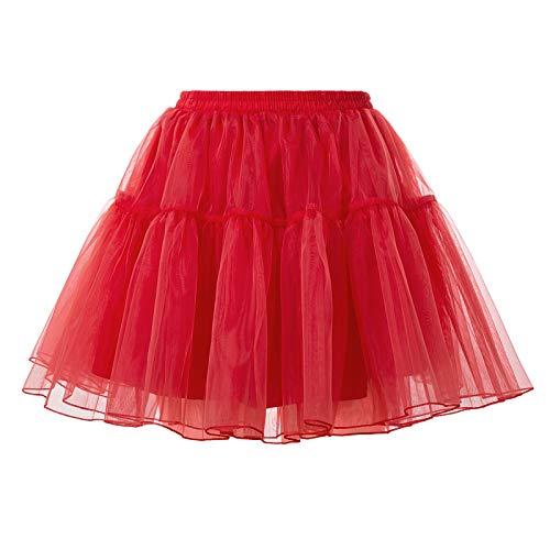 GRACE KARIN 50s Vintage Reifrock Petticoat Unterrock für Rockabilly Kleid Brautkleid CL2503