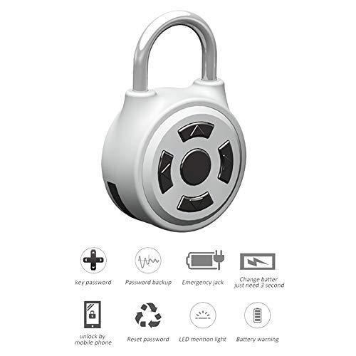 Sin llave Bluetooth Smart Padlock 0,3 segundos tiempo de respuesta dos maneras de desbloquear establecer su combinación...