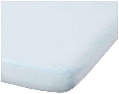 Playshoes 770323-17 Jersey Spannbettlaken für die Wiege, Stubenwagen, wasserdicht und atmungsaktiv, 40 x 70 cm, hellblau