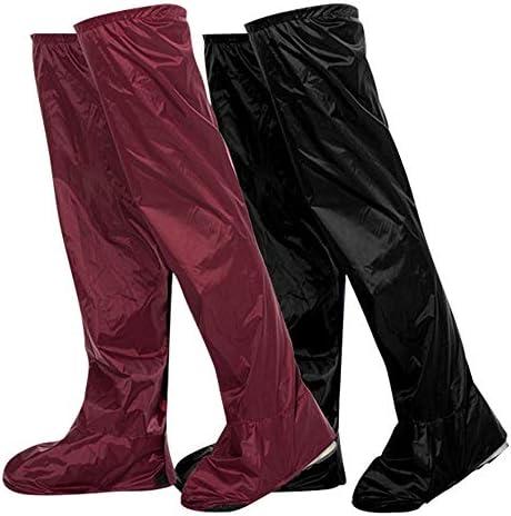 シューズカバー 防水雨砂のサドルシューズを厚くニーハイチューブ上に設けられライディングブーツ 防風性と防水性 (Color : Red, Size : S)