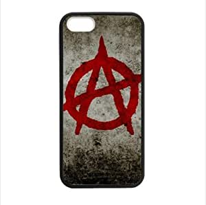 Best Custom Case - Anarchy Apple iphone 5 or 5s TPU (Laser Technology) Case, Cell Phone Cover