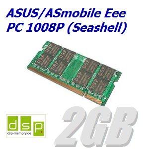 DSP - Módulo de memoria RAM para ordenador portátil ASUS / ASmobile Eee PC 1008P Seashell