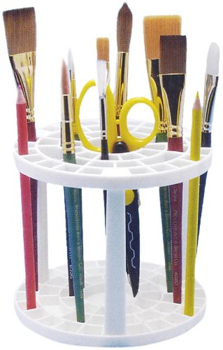 Studio 71 Pencil and Brush Stand, White Plastic, Round Darice 97324