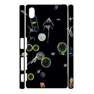 3D Protective Shell Perfect Hipster Jellyfish Printed Phone Case for Sony Xperia Z3 Plus