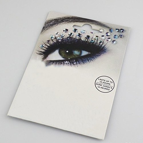 Gem Tattoo (Spritech(TM) Fashionable Fun Temporary Eye Tattoo Makeup Crystal Gem Glitter Eye Shadow Art for Art Photo Wedding)