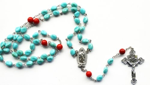 Rosary Turquoise Medal - 7