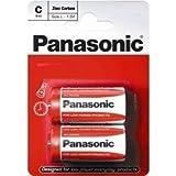 Panasonic Batteries - C size - R14R - 24 Batteries (12 Packs of 2)