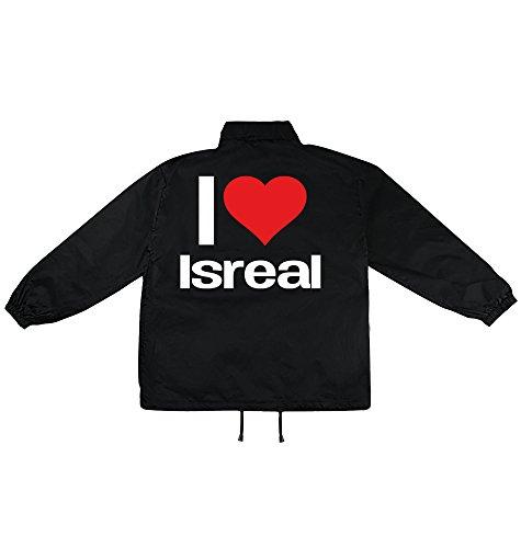i love Isreal Motiv auf Windbreaker, Jacke, Regenjacke, Übergangsjacke, stylisches Modeaccessoire für HERREN, viele Sprüche und Designs