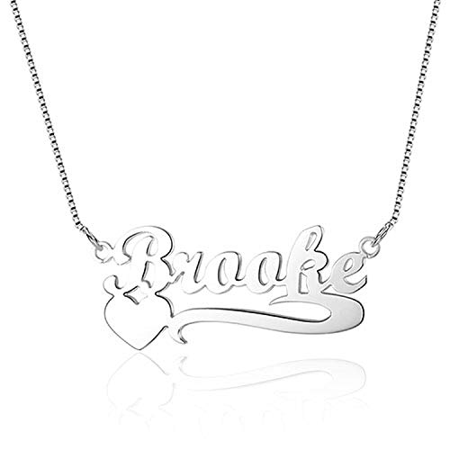 Name Heart Necklace perfectPersonalized Gift for Women Arabic Hebrew Name Necklaces Pendants,Silver,45cm (Meaning Of The Name Karen In Hebrew)