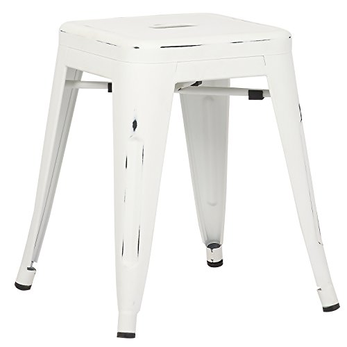 Poly and Bark Trattoria 18 Stool in Distressed White