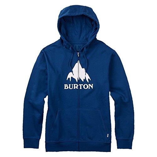 Burton Men's Classic Mountain Full-Zip Hoodie, True Blue, (Burton Print Sweatshirt)