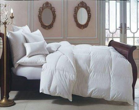 durable modeling 4 Piece LUXURIOUS 1000 Thread Count KING Size Goose Down Alternative Comforter SET 100%EGYPTIAN COTTON, WHITE StripeColor, 1000 TC - 750FP - 50Oz.