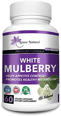 White Mulberry Leaf Extract-Supports Healthy Glucose Levels-Natural Premium Blood Sugar Control-Appetite suppressant for Weight Loss and Fat Loss, Natural Weight Loss Supplement, Non-GMO-Made in USA 2