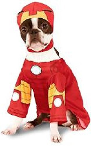 Pet Dog Cat Iron Man Super Hero Halloween Clothes Fancy Dress Costume Outfit S-XL (Small)