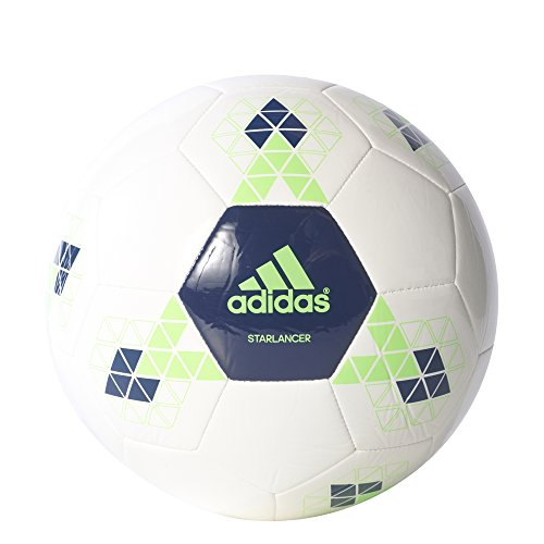 adidas STARLANCER V Fußball, Herren Multicolore - blanc/vert/bleu (Blanco / Versol / Azumis)