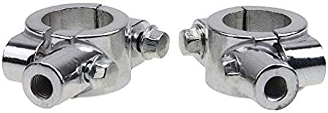 8mm Topxome 1 Pair Universal 8mm//10mm Motorcycle 7//8 Handle Bar Thread Mirror Mount Holder Adapter Aluminum Clamp Mirrors Adapter Silver
