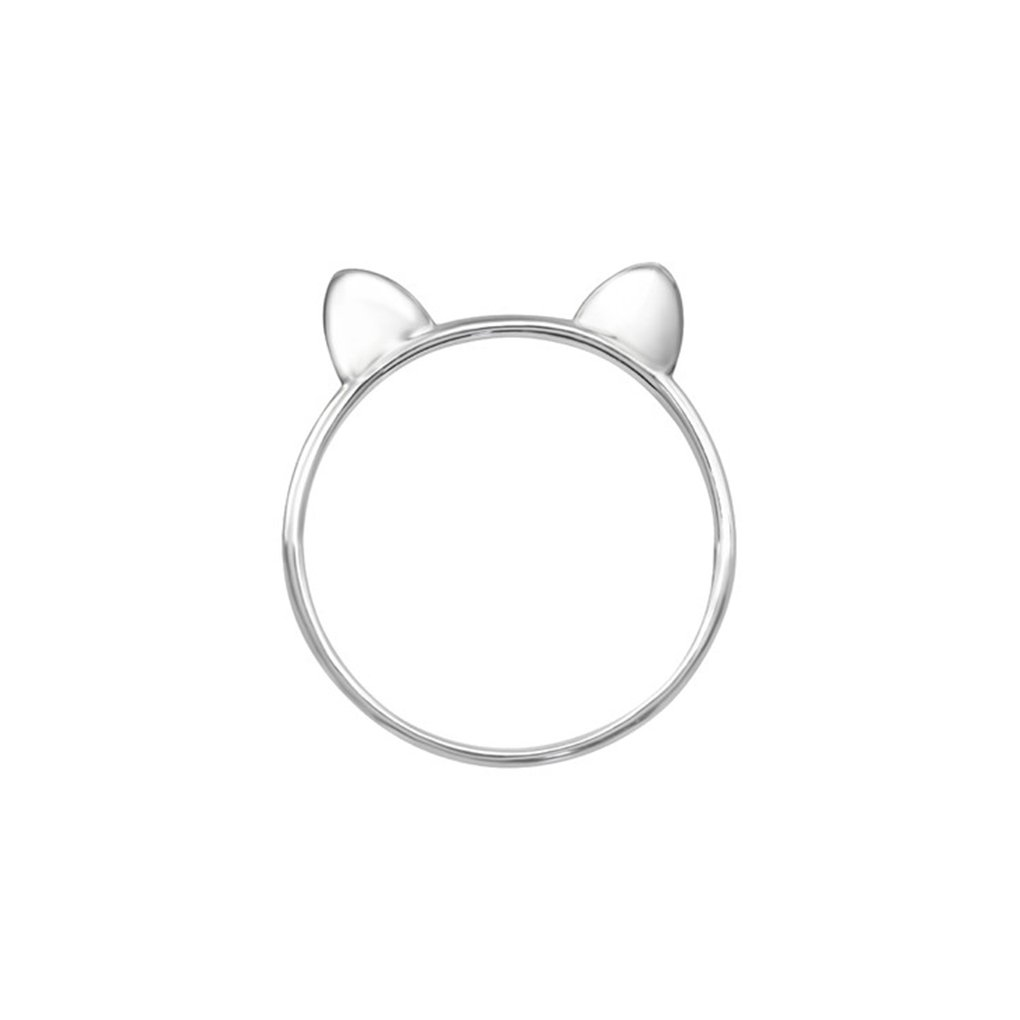 Cat Plain Rings 925 Sterling Silver Polished and Nickel Free Liara